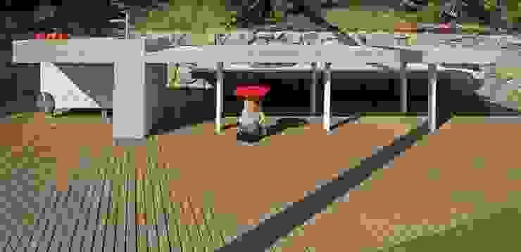 Barbecue Outdoor Giardino moderno di sandra marchesi architetto Moderno Legno composito Trasparente
