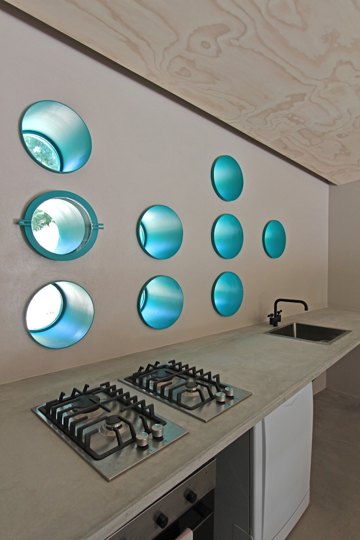 Eclectic style kitchen by sandra marchesi architetto Eclectic Concrete