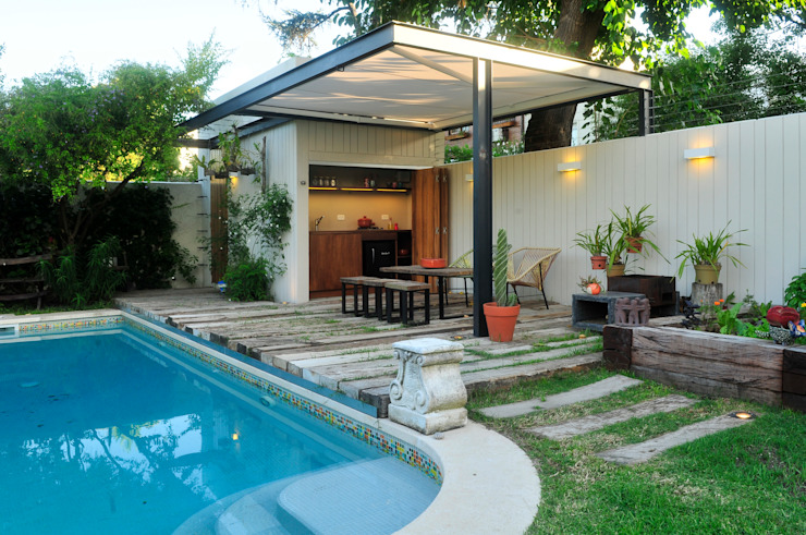 Jardin de style  par Paula Herrero | Arquitectura,