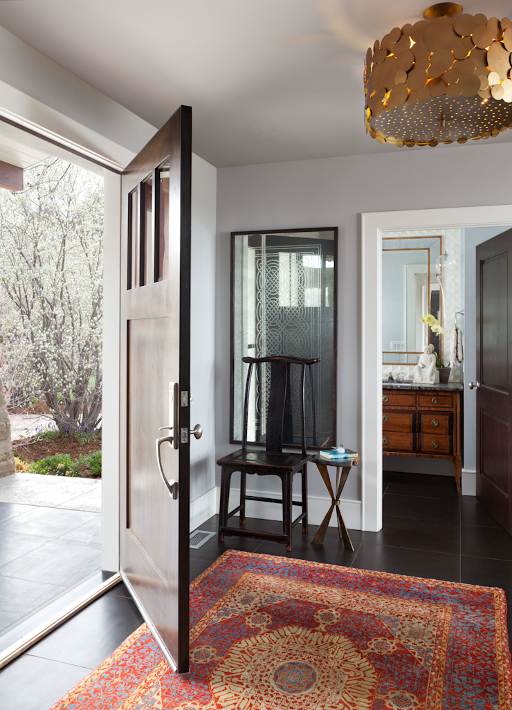 Elegant Modern and Timeless Andrea Schumacher Interiors Classic style corridor, hallway and stairs