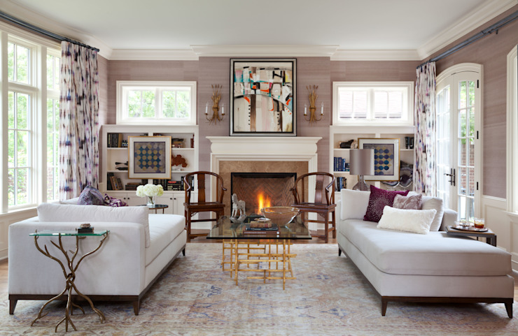Eclectic style living room by Andrea Schumacher Interiors Eclectic