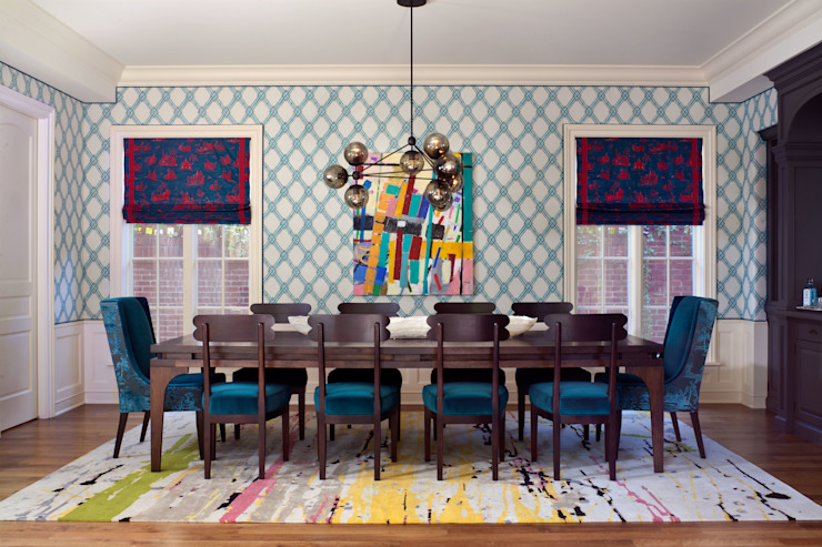 Cherry Creek Traditional with a Twist Eclectic style dining room by Andrea Schumacher Interiors Eclectic