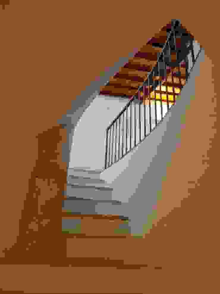 pedro quintela studio Rustic style corridor, hallway & stairs