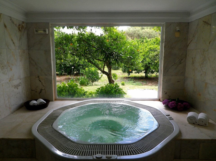 pedro quintela studio Rustic style spa