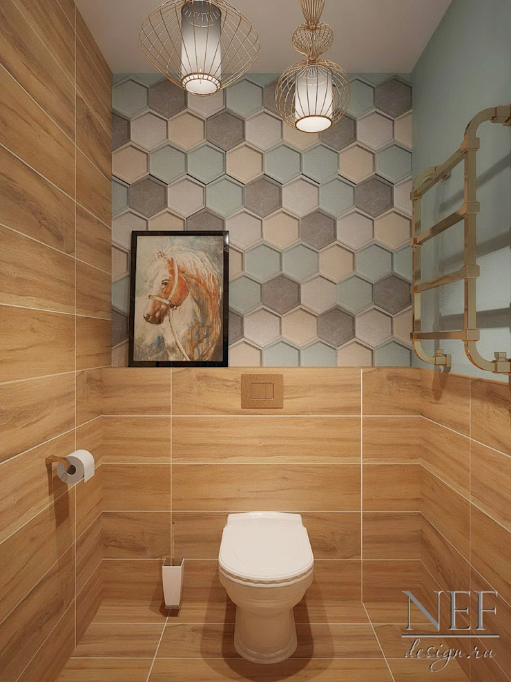 Industrial style bathroom by Юлия Паршихина Industrial
