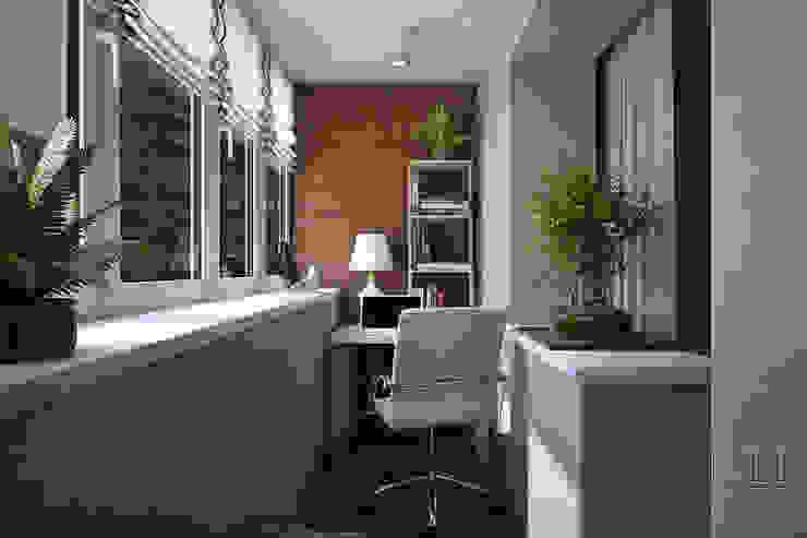 Minimalist balcony, veranda & terrace by Юлия Паршихина Minimalist