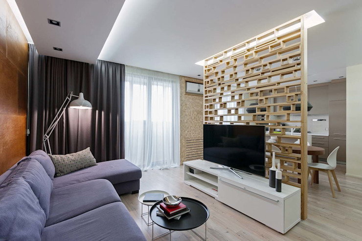 Modern living room by EUGENE MESHCHERUK | architecture & interiors Modern