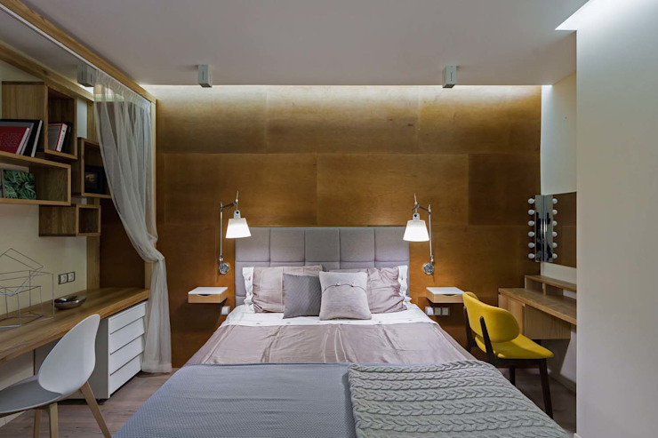 Wooden Accent Modern Bedroom by EUGENE MESHCHERUK | architecture & interiors Modern