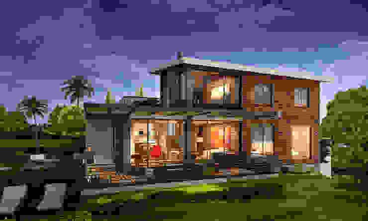 CASA BERBESI Casas modernas de G+S ARQUITECTURA SAS Moderno