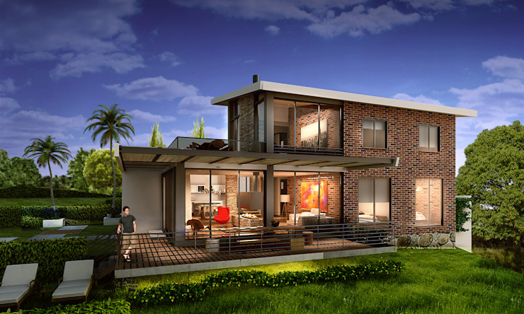 Modern Houses by G+S ARQUITECTURA SAS Modern