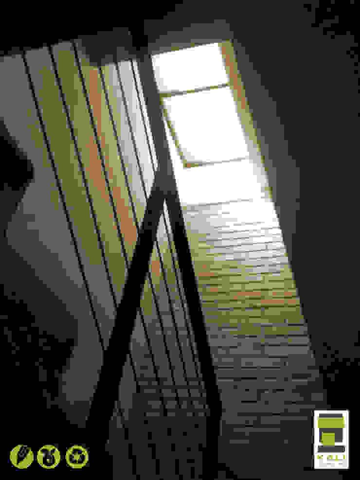 2 Place On Bridge (Construir en un Puente) Pasillos, vestíbulos y escaleras modernos de KALI diseño.MX Moderno