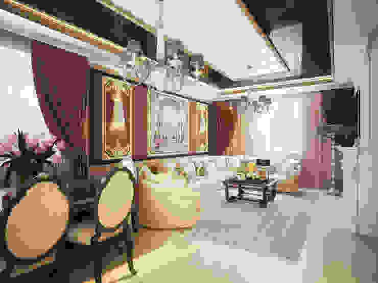 Проект 2х этажного дома в современном классическом стиле Гостиная в классическом стиле от Инна Михайская Классический