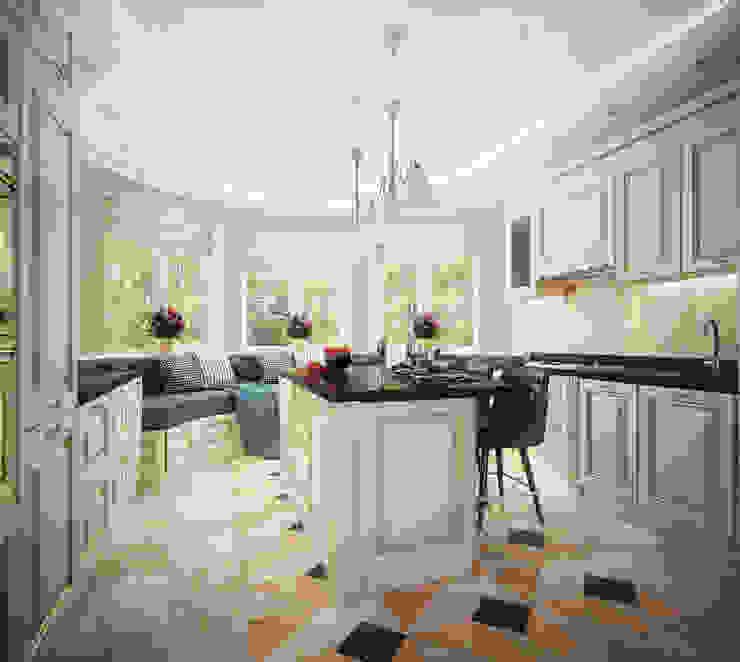 Проект 2х этажного дома в современном классическом стиле Кухня в классическом стиле от Инна Михайская Классический