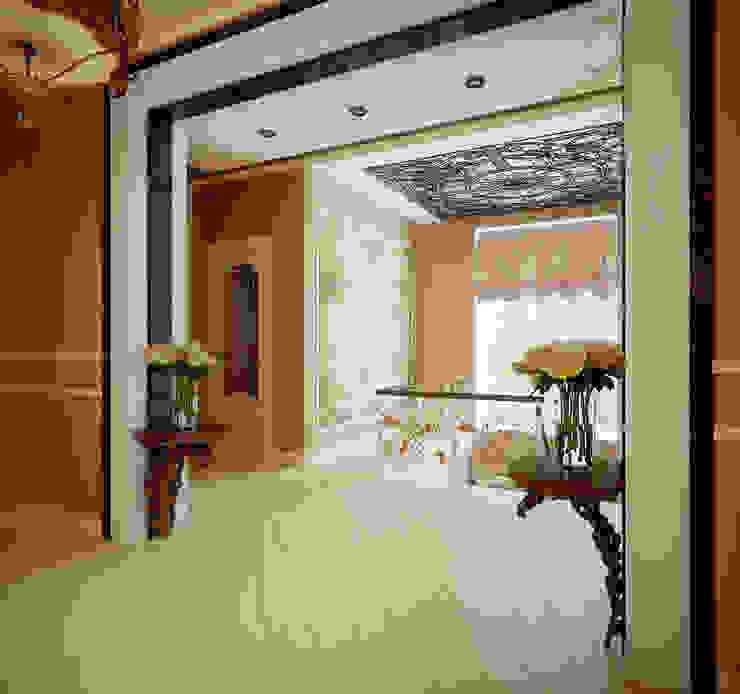 Проект 2х этажного дома в современном классическом стиле Коридор, прихожая и лестница в классическом стиле от Инна Михайская Классический