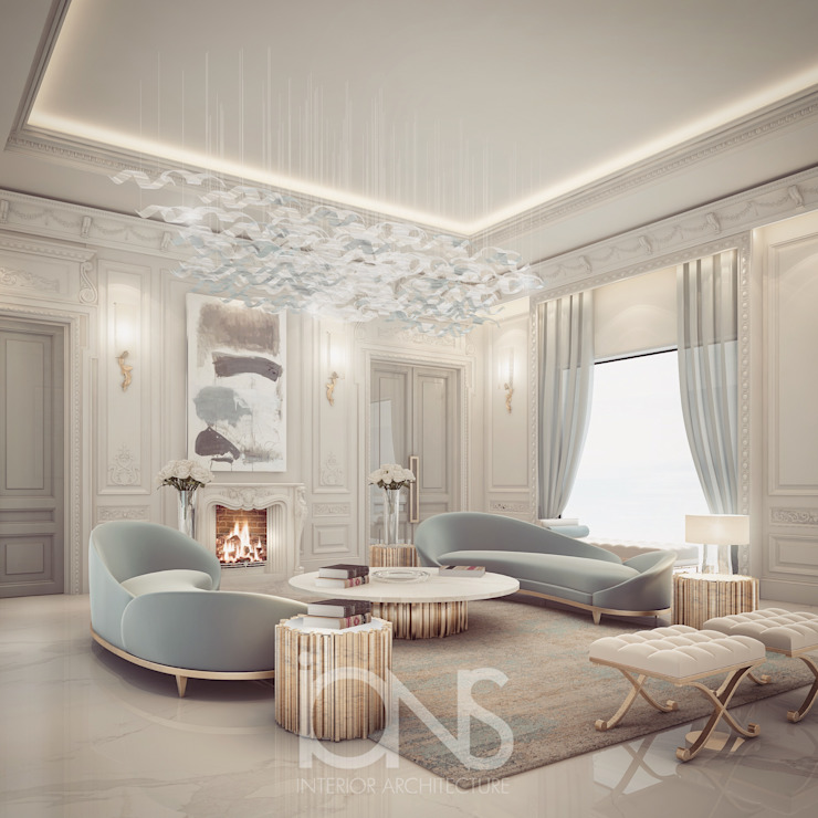 Delightful Sitting Room Design من IONS DESIGN حداثي رخام