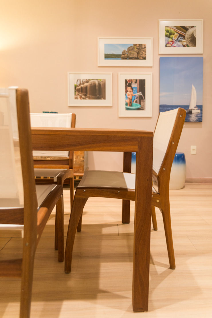 Duo Arquitetura Tropical style dining room Solid Wood Beige
