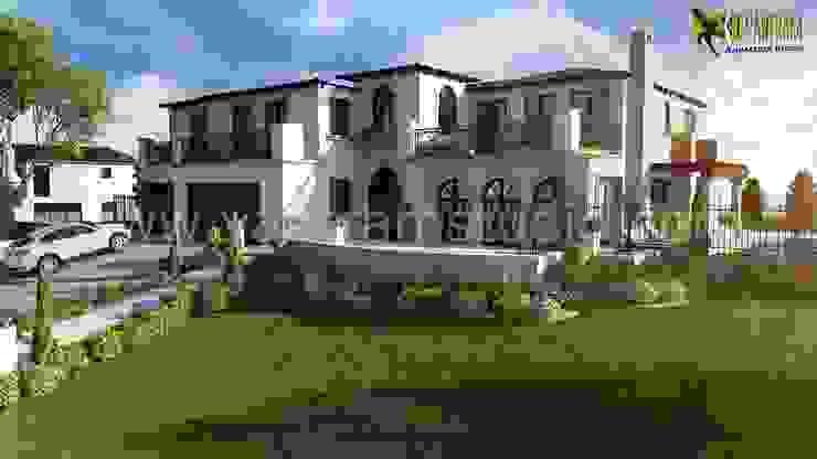 Top Modern Beach 3D House Exterior Rendering Design View: classic  by Yantram Architectural Design Studio, Classic Bricks
