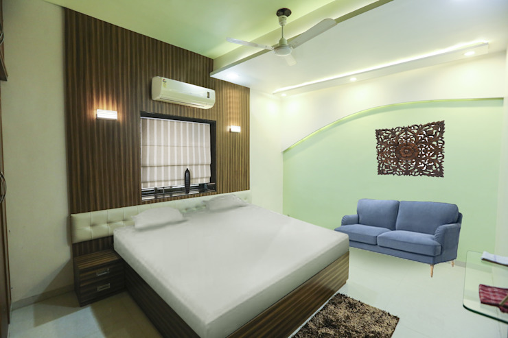 Master Beroom Modern style bedroom by ZEAL Arch Designs Modern