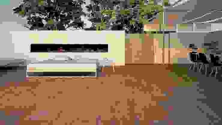 TOP Moderne Terrasse aus Keramik gartentyp GmbH Industrialer Balkon, Veranda & Terrasse