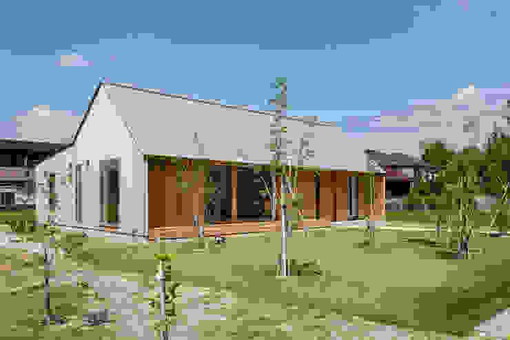 南西ファサード/夏 オリジナルな 家 の hm+architects 一級建築士事務所 オリジナル