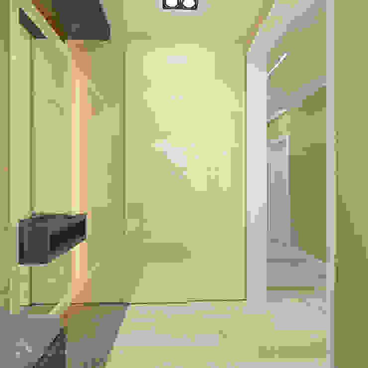 Трехкомнатная в ЖК Медный Всадник Коридор, прихожая и лестница в модерн стиле от Design interior OLGA MUDRYAKOVA Модерн