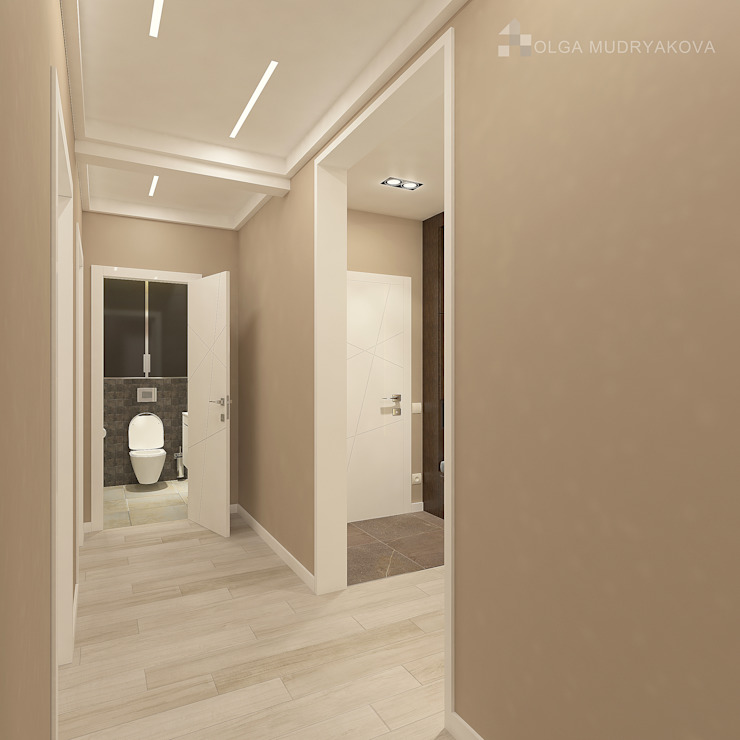 Moderner Flur, Diele & Treppenhaus von Design interior OLGA MUDRYAKOVA Modern