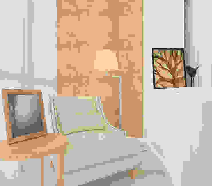 Трехкомнатная в ЖК Медный Всадник Спальня в стиле модерн от Design interior OLGA MUDRYAKOVA Модерн