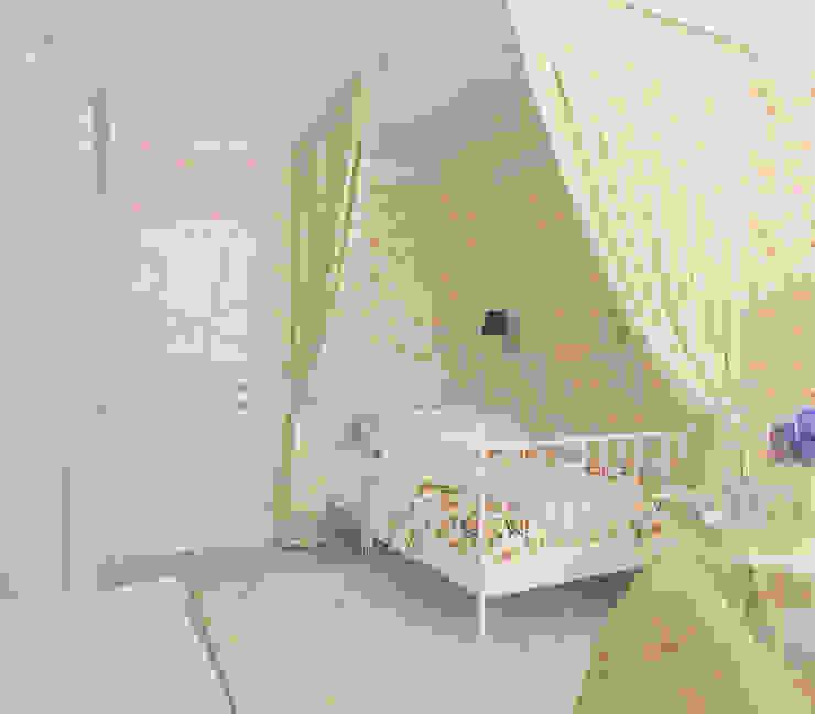 Трехкомнатная в ЖК Медный Всадник Детская комната в стиле модерн от Design interior OLGA MUDRYAKOVA Модерн