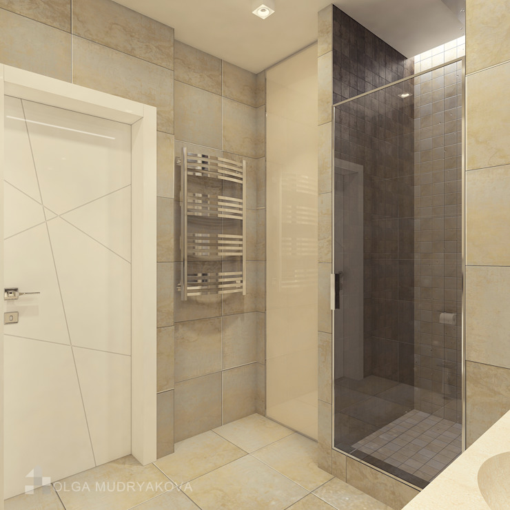 Трехкомнатная в ЖК Медный Всадник Ванная комната в стиле модерн от Design interior OLGA MUDRYAKOVA Модерн