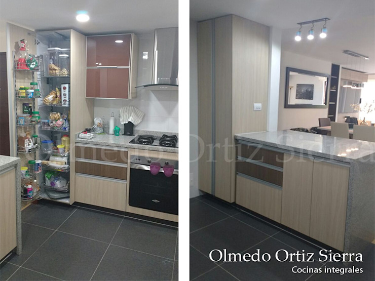 Modern Kitchen by Cocinas Integrales Olmedo Ortiz Sierra Modern Chipboard