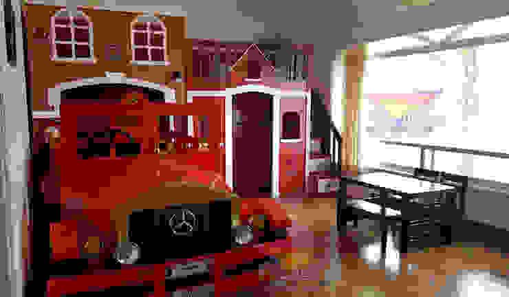 Increible recamara de Bombero tipo retro de Kids Wolrd- Recamaras Literas y Muebles para niños Clásico Derivados de madera Transparente