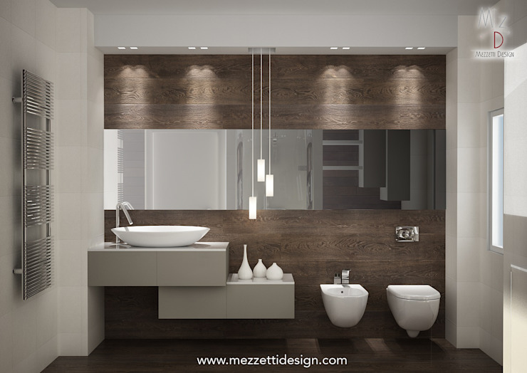 Minimalist style bathroom by Mezzettidesign Minimalist Ceramic