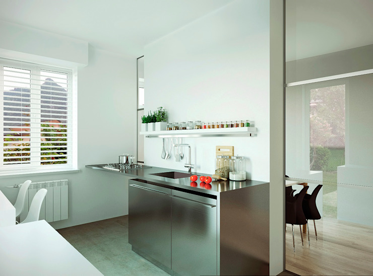 Кухня Кухня в стиле минимализм от ECOForma Минимализм Алюминий / Цинк
