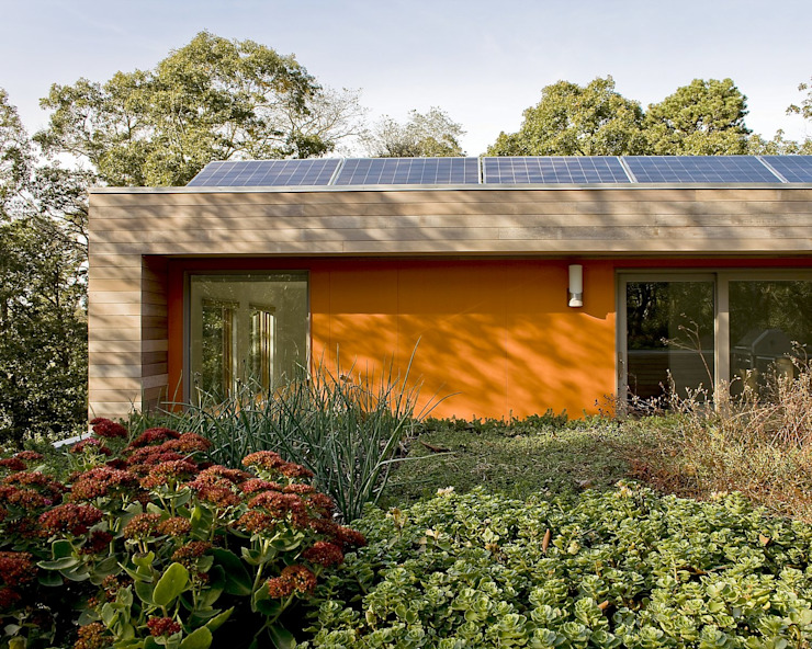 Green Roof & Solar Panels Modern houses by ZeroEnergy Design Modern