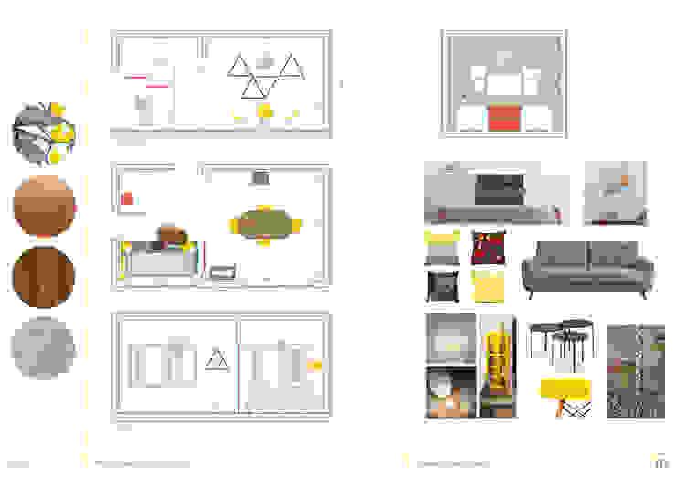 Propuesta Living/Comedor Salones minimalistas de homify Minimalista