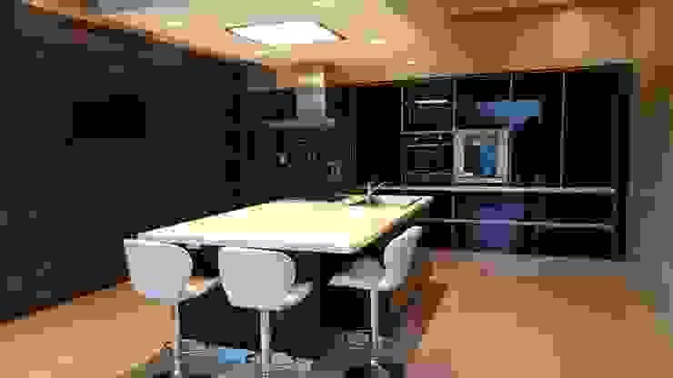 Casa Los Olivos 1: Cocinas de estilo  por Saleme Sanchez Arquitectos