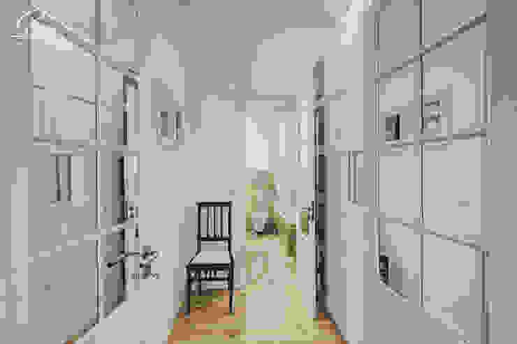Casa Pombalina: <q>de velho a novo</q>. por Obrasdecor Rústico Madeira Acabamento em madeira