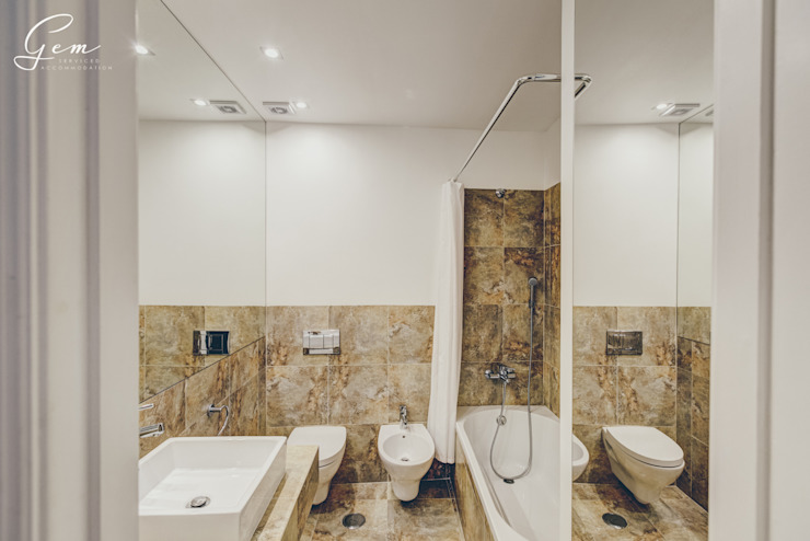 Rustic style bathrooms by Obrasdecor Rustic Tiles