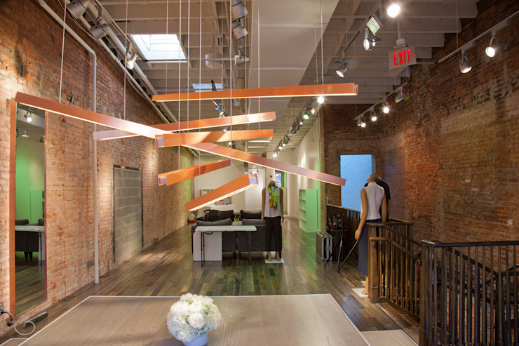 Custom Copper Chandelier Lighting Hinson Design Group 现代客厅設計點子、靈感 & 圖片 銅/青銅/黃銅