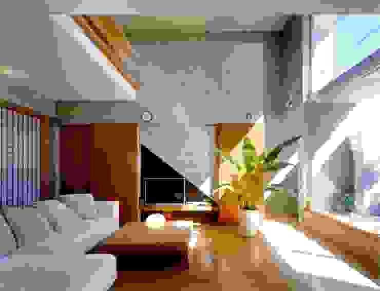 七郷の家 モダンデザインの リビング の FrameWork設計事務所 モダン