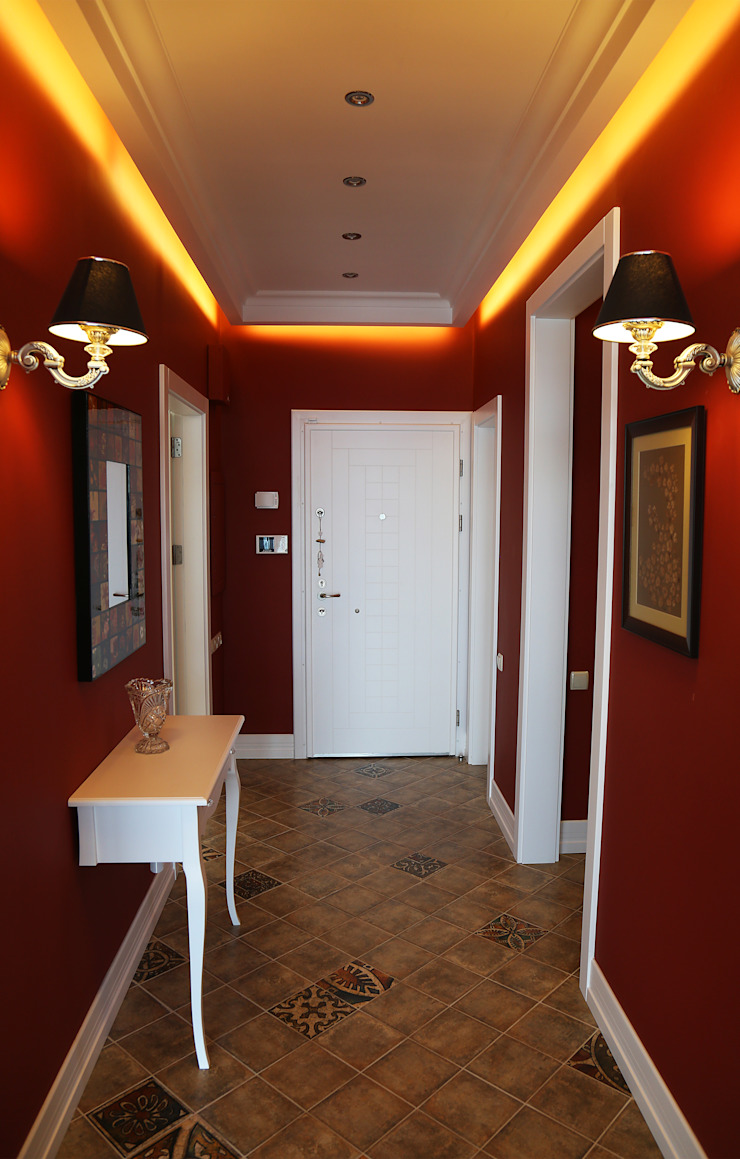 İndeko İç Mimari ve Tasarım Classic style corridor, hallway and stairs