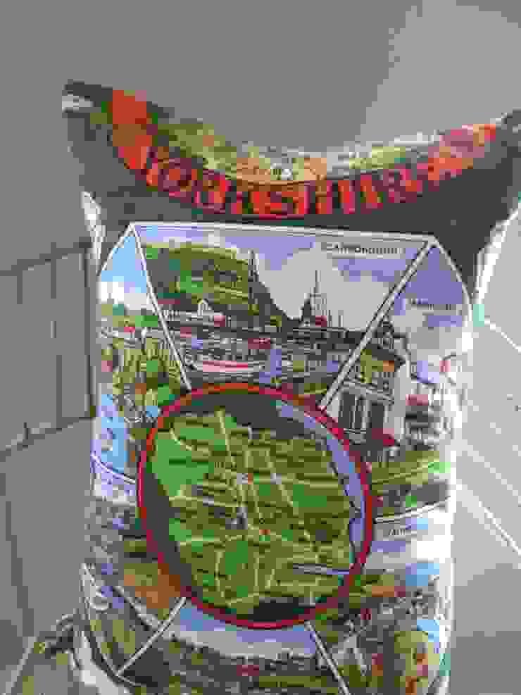Yorkshire map cushion Salon original par Little Mill House Éclectique