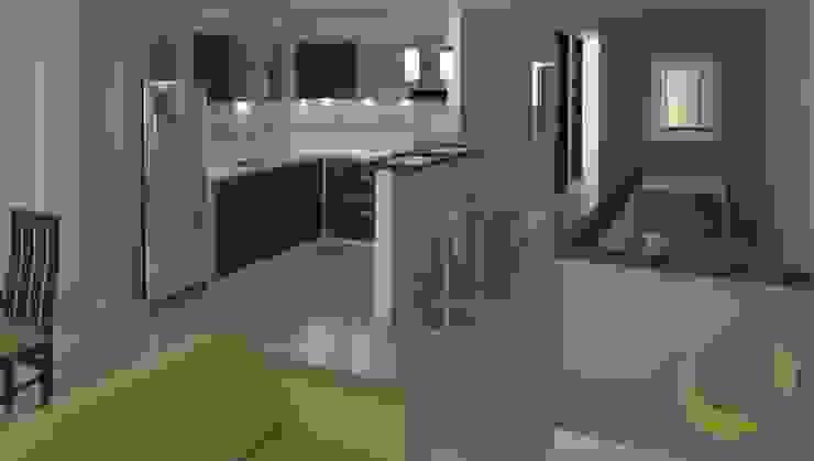 Cocinas de estilo moderno de EcoDESING S.A.S DISEÑO DE ESPACIOS CON INGENIO Moderno Cerámico