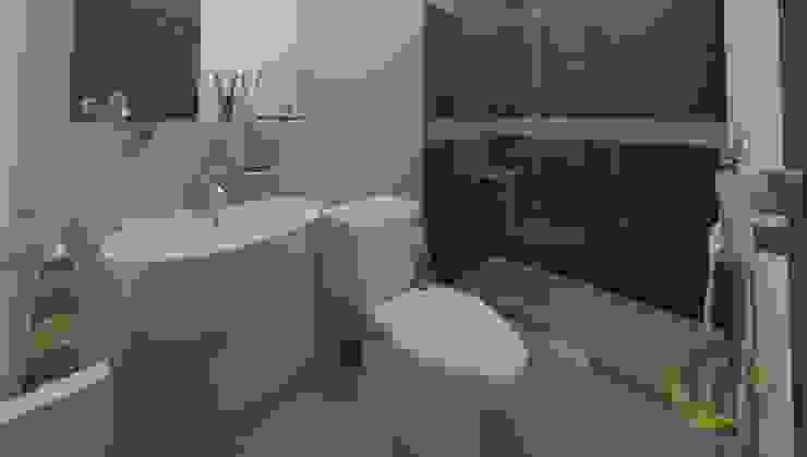 Bagno moderno di EcoDESING S.A.S DISEÑO DE ESPACIOS CON INGENIO Moderno Ceramica