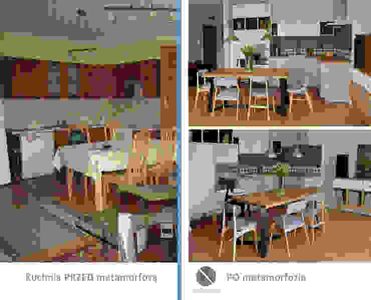 Przed i Po DoMilimetra Nowoczesna kuchnia