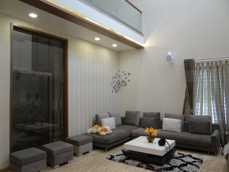 living room Modern Living Room by Hasta architects Modern