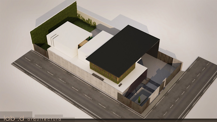Oficinas Hidrop Edificios de oficinas de estilo minimalista de lab d arquitectura Minimalista