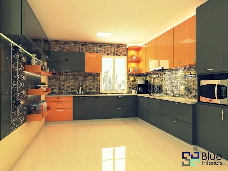 Mr.Ashutosh Project by Blue Interiors Modern kitchen by homify Modern