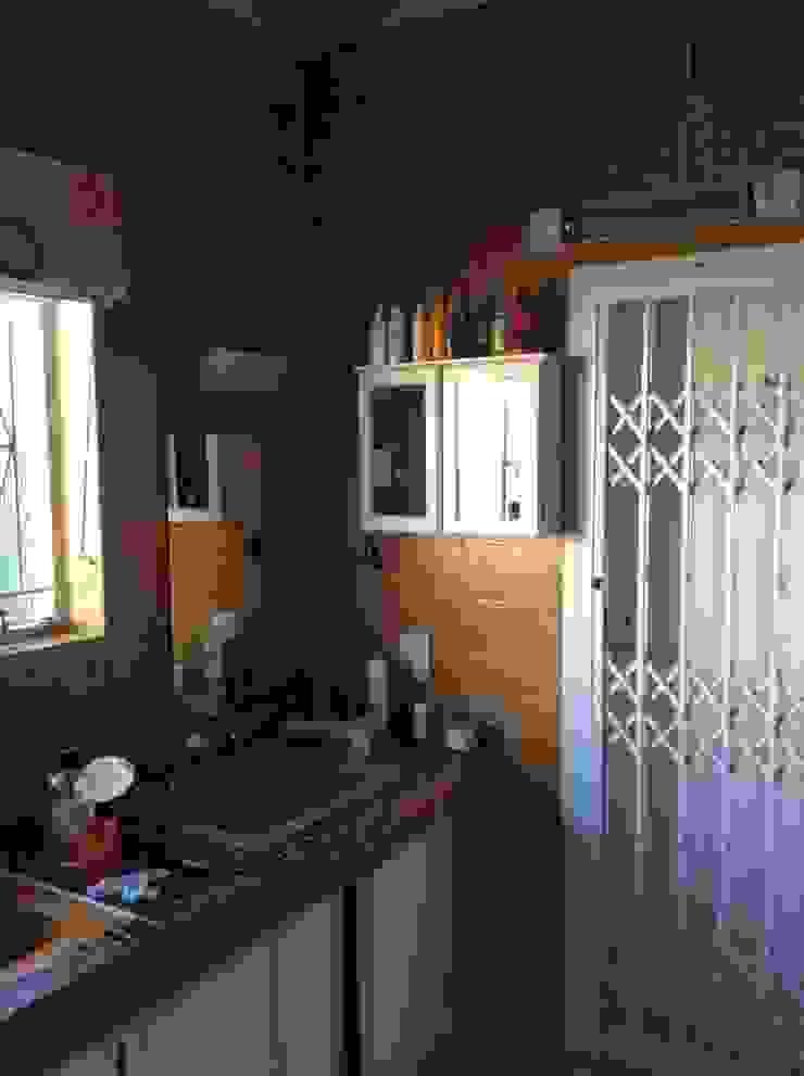View of vanity before: rustic  by Urban Dwellers Design Studio, Rustic