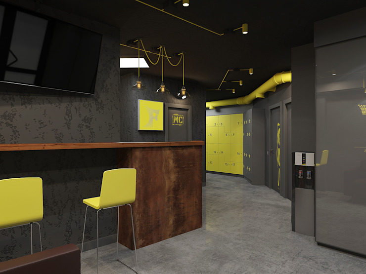 Ruang Komersial Minimalis Oleh Tutto design Minimalis Beton